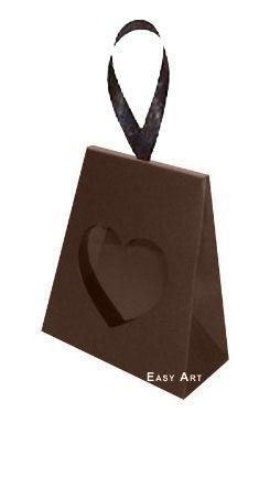 Caixinha Coração - Marrom Chocolate