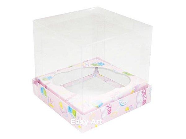 Caixas para Cupcakes - Estampado Bebê Rosa