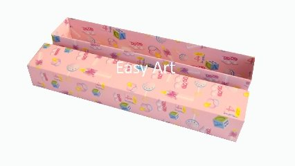 Caixas para Convites - Estampado Bebê Rosa