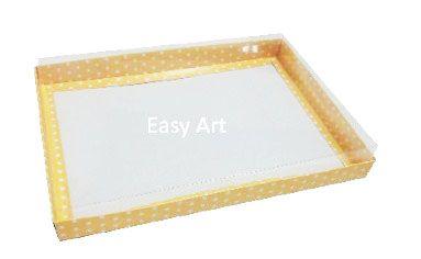 Caixas para Convites - Amarelo com Poás Brancas
