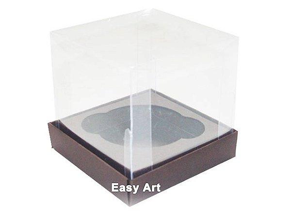 Caixas para Cupcakes 8x8x8 - Marrom Chocolate