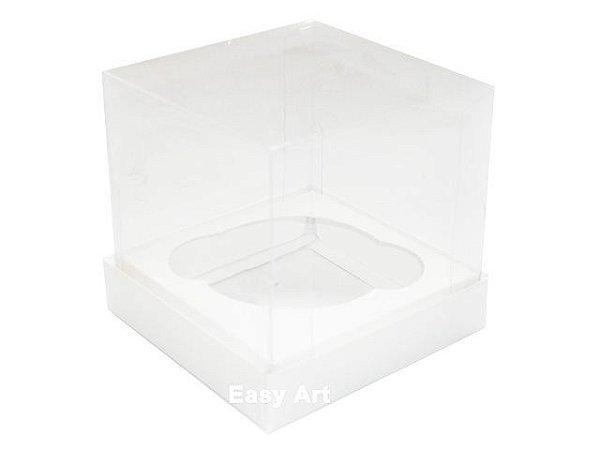 Caixas para 1 Mini Cupcake 6x6x7,5 - Branco