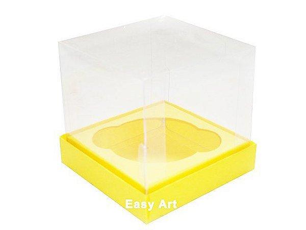 Caixas para 1 Mini Cupcake - Amarelo