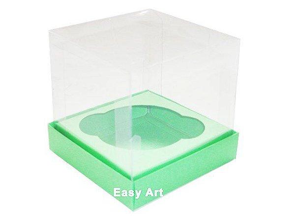 Caixas para 1 Mini Cupcake - Verde Pistache