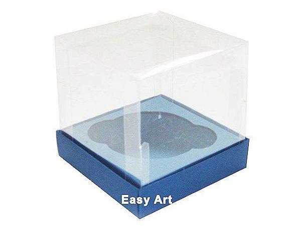Caixas para 1 Mini Cupcake - Azul Marinho
