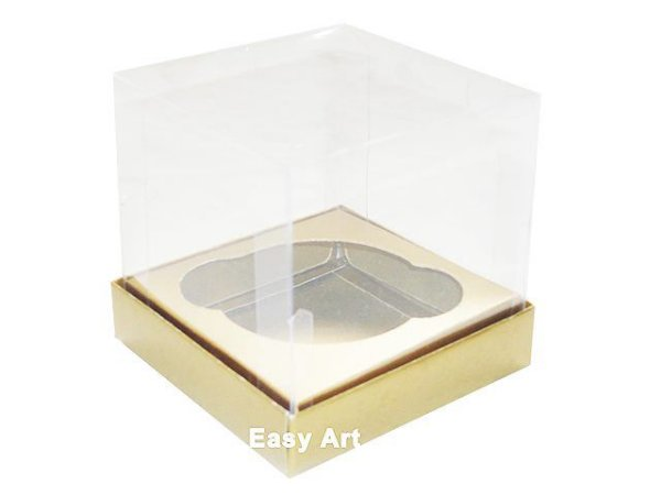 Caixas para 1 Mini Cupcake - Dourado Brilhante