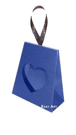 Caixinha Coração - Azul Marinho