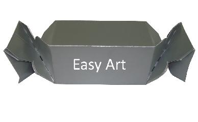 Caixinha em Formato de Bala - 10x5x5