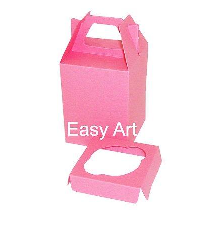 Caixa Maleta para 1 Mini Cupcake - Pink