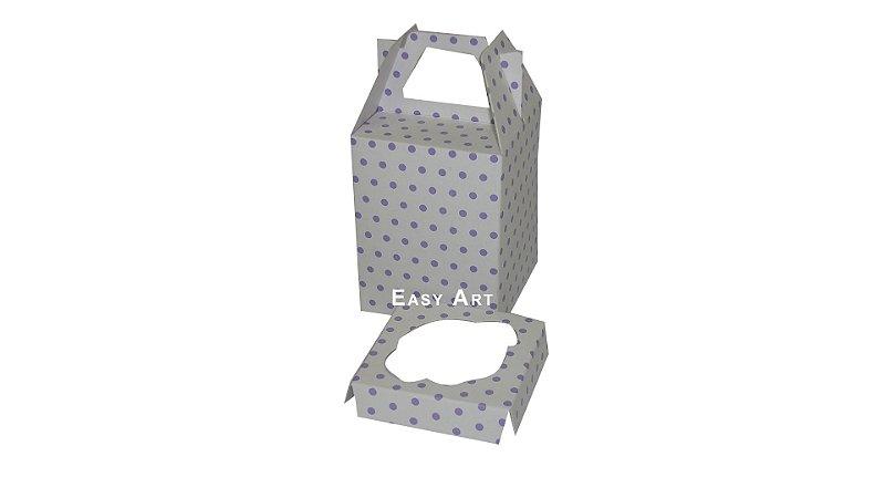 Caixinha Maleta para Mini Cupcakes - 6x6x6