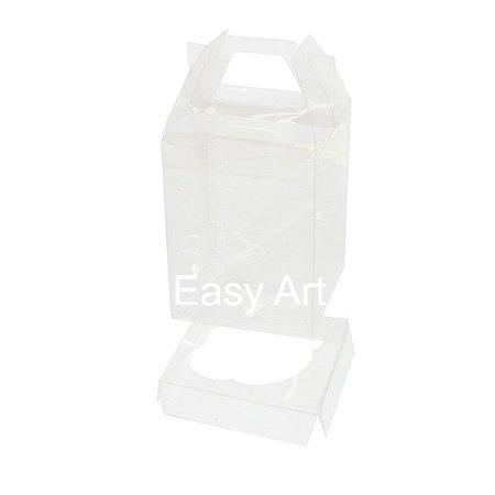 Caixa Maleta para 1 Mini Cupcake - Transparente