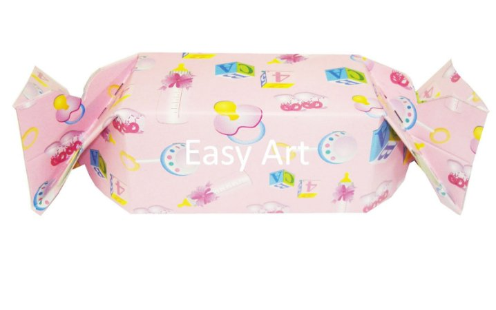 Caixa Bala - Estampado Bebê Rosa