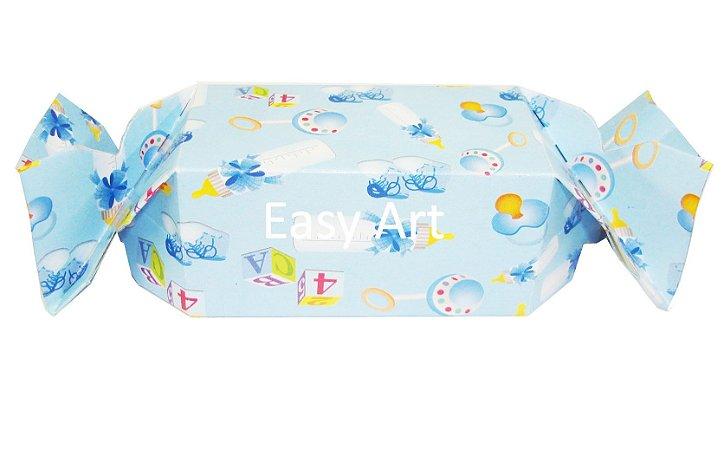 Caixa Bala - Estampado Bebê Azul
