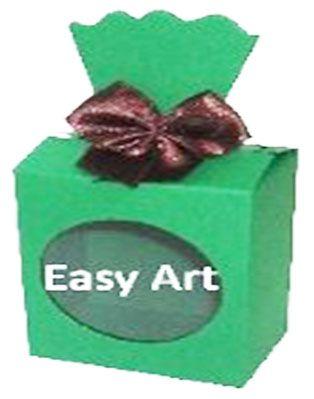 Caixinha para Presentes com Visor - Verde Bandeira