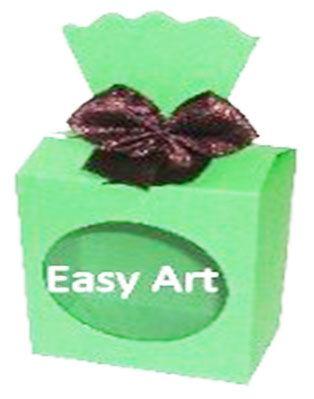 Caixinha para Presentes com Visor - Verde Pistache