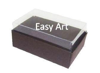Caixas para 06 Mini Doces - Marrom Chocolate