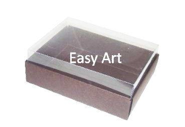 Caixas para 12 Mini Doces - Marrom Chocolate