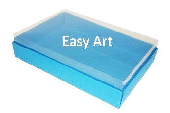Caixas para 24 Mini Doces - Azul Turquesa