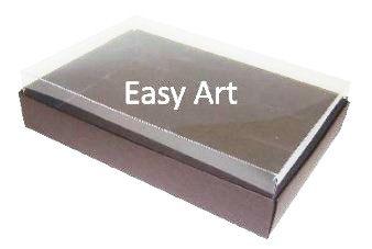 Caixas para 24 Mini Doces - Marrom Chocolate