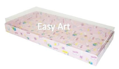 Caixas para 50 Mini Doces - Estampado Bebê Rosa