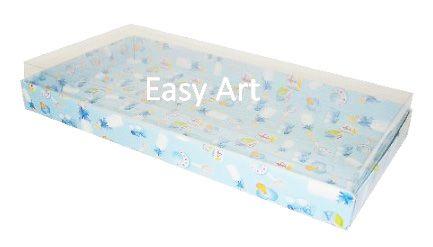 Caixas para 50 Mini Doces - Estampado Bebê Azul