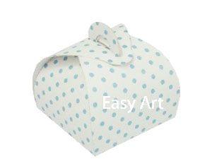 Caixinha Valise - Branco com Poás Azuis