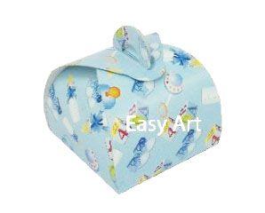 Caixinha Valise - Estampado Bebê Azul