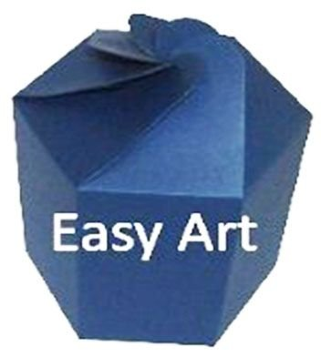 Caixa Flor para Presentes - Azul Marinho