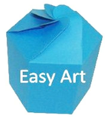 Caixa Flor para Presentes - Azul Turquesa