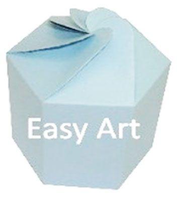 Caixa Flor para Presentes - Azul Claro