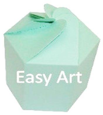 Caixa Flor para Presentes - Verde Claro
