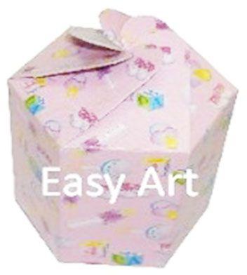 Caixa Flor para Presentes - Estampado Bebê Rosa
