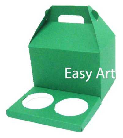Caixa Maleta para 2 Cupcakes - Verde Bandeira