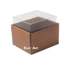 Caixas para Dois Macarons - Marrom Claro