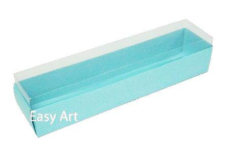 Caixas para 10 Macarons 21x4,5x4,5 - Azul Tiffany