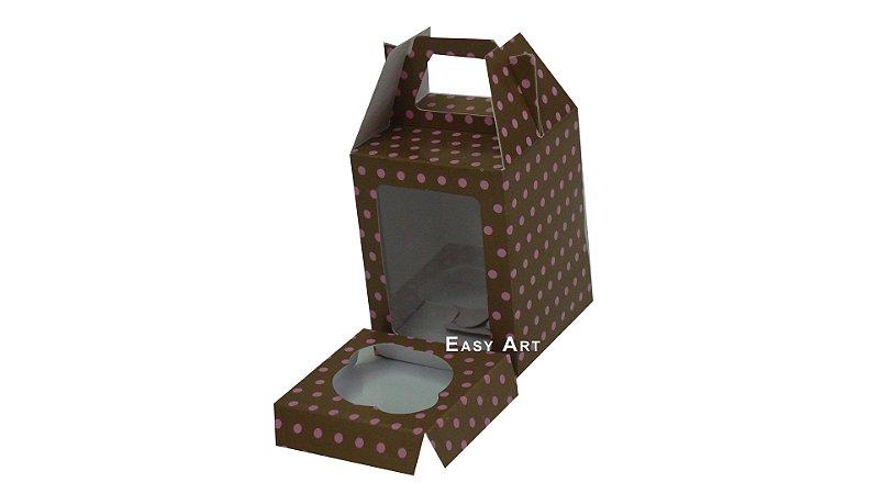 Caixinhas Maleta para Cupcakes - 6x6x6