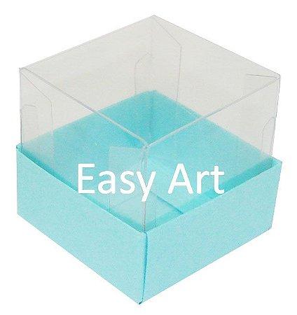 Caixa para Mini Bolos - Azul Tiffany