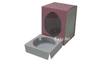 Caixas para Ovos de Páscoa - Rosa Poás Brancas