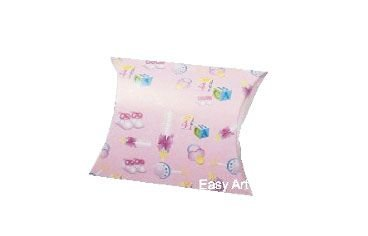 Caixa Almofada - Estampado Bebê Rosa