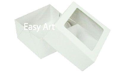 Caixa para 4 Brigadeiros 7x7x3,5 - Branco