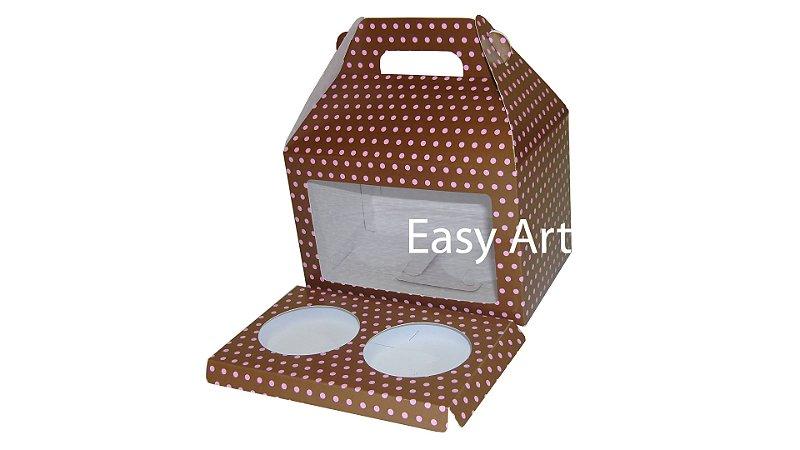 Caixinhas Maleta para Cupcakes - 15x10x10