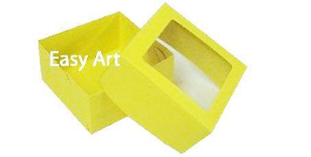 Caixa para 4 Brigadeiros - Amarelo