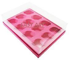 Caixas para 12 Mini Cupcakes - Pink