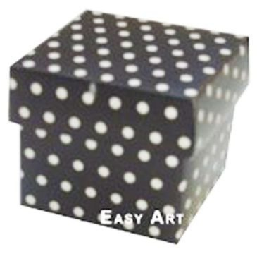 Caixa Tiffany Pequena - Preto com Poás Brancas