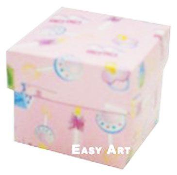 Caixa Tiffany Pequena - Estampado Bebê Rosa
