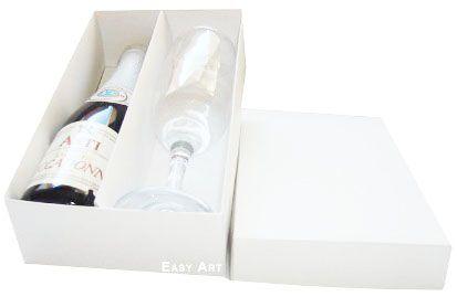 Caixas para Mini Vinho e Taça Sem Visor - Branco
