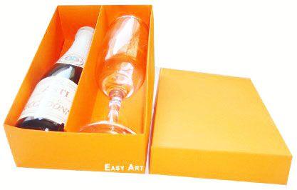 Caixas para Mini Vinho e Taça Sem Visor - Laranja