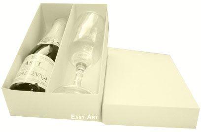 Caixas para Mini Vinho e Taça Sem Visor - Marfim