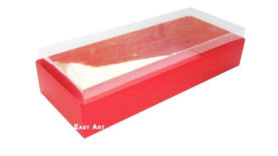 Caixa para 10 Brigadeiros - 20x8x4,5 / Vermelho