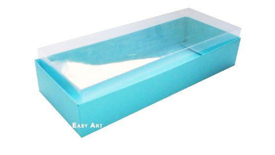 Caixa para 10 Brigadeiros - 20x8x4,5 / Azul Tiffany